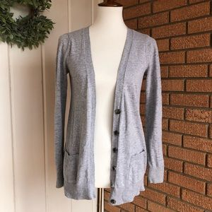 Light Gray Sweater Cardigan
